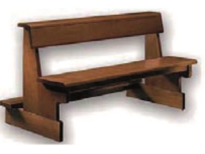 banco modelo 15, mobiliario parroquias, church furniture